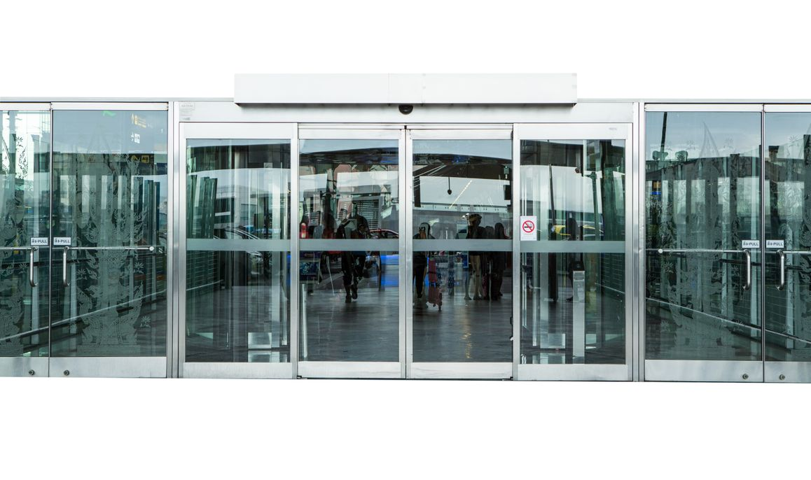 Automatic Doors on a building.